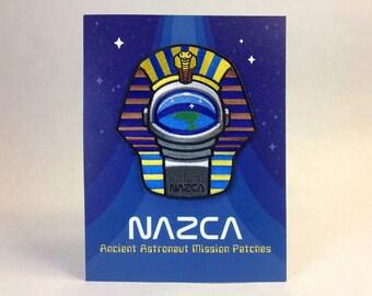 Pharaoh Astronaut - NAZCA Ancient Astronaut Mission Patch