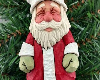 Hand Carved Wood Santa