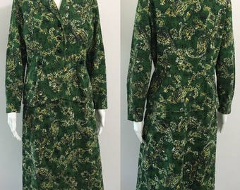 Quirky 1950's Novelty Print Suit