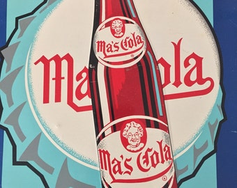 Ma's Cola Sign Embossed Soda Bottle Cap Scranton Pennslyvania Pop Beverage Soft Drink Vintage Collectable Advertising Mom Mothers Day