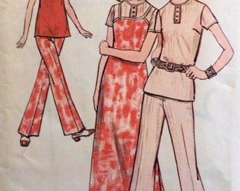 Butterick 5807 Young Junior Teen Blouse, Jumper and Pants