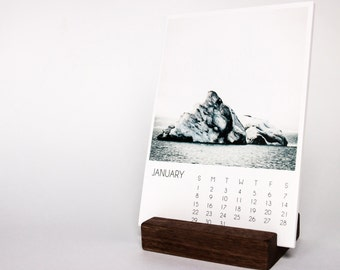 Print Stand, Walnut Block, Calendar Stand, Wood Block, Photography Holder, Home Decor, Desk Accessories