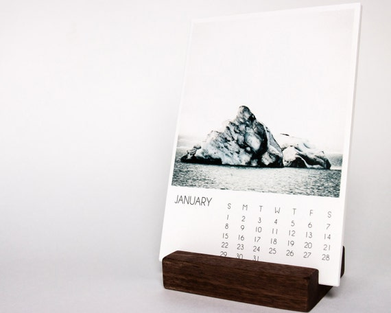 Calendar Wood Stand : Print stand walnut block calendar wood