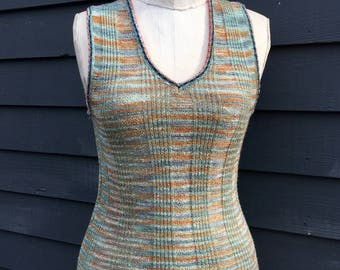 Space knit tank top