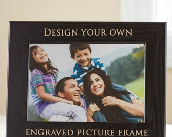 create your own personalized picture frame black design your own picture frame custom engraved picture frame custom frame ships fast