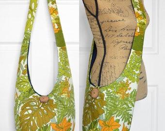 Hobo Bag Boho Bag Cross Body Bag Hippie Purse Sling Bag Bohemian Purse Vintage Floral Hobo Purse Hippie Bag Slouchy Bag Fabric Purse Vintage