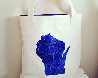 Custom State Canvas Tote