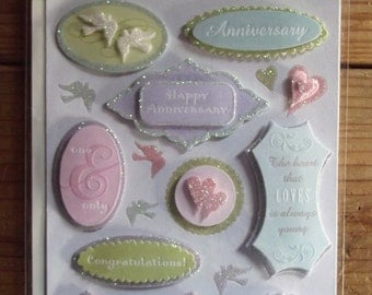 K&Company Adhesive 3D stickers / Anniversary / Embellishments / grand adhesions / Scrapbook Supplies / Craft / paper craft / Card making