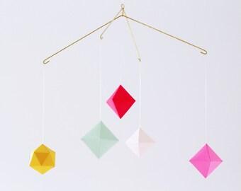 neon geometric mobile - baby mobile - nursery mobile