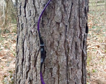 """Purple Mongolian style horse bow, 43lb at 28"""", traditional wood archery bow"""