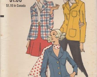 Vintage Blazer Pattern Vogue 7679 Size 8 Uncut