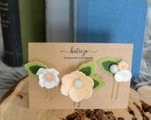 Felt Flower Planner Clips/Felt Flower Paper Clips/Planner Accessory/Paper Clips/Bookmark