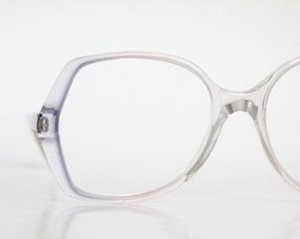 Vintage 80's Angular Lavender Eyeglasses Frames