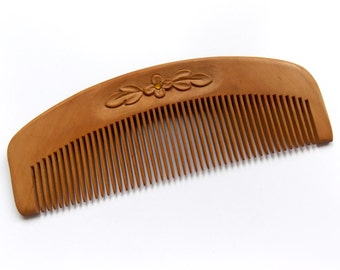 Natural Wood Hair Comb, Hair Comb Wood, Natural Wooden Hair Comb, Personalize, Wood Carving, Head Scalp Massage, Handmade by MariyaArts