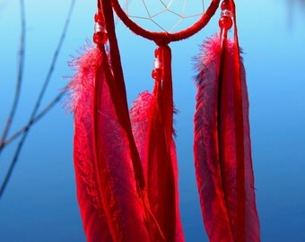 Red Handmade Apache Dream Catcher (Limited Edition)