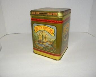 Shabby Dutch Masters Cigar Tin Canister Humidor