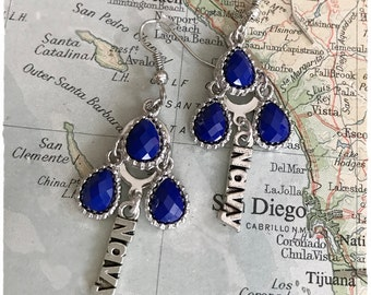 US Navy earrings by Son and Sea - FREE US shipping