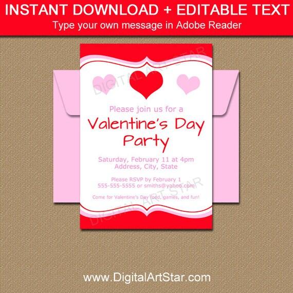 valentines day party invitation valentines day invitation