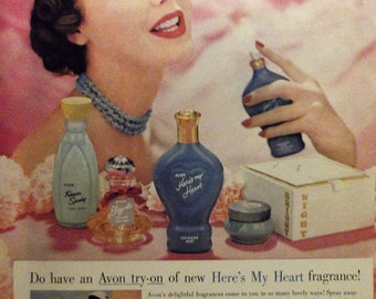 AVON COSMETICS Original Vintage Advertising Beauty Products Cosmetics Bathroom Wall Decor Additional Ads Ship FREE Ready To Frame