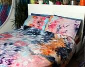 Tie Dye Duvet Set - Hippie Bedding - Watercolor Bedding - Egyptian Cotton - WATERCOLOR DREAMS
