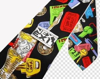 90s Club Kid/ Funny Ties/ Fresh Prince/ Pop Art Clothing/ Skinny Tie/ Fat Tie/ Business Casual/ Geek Tie/ Pee Wee Herman/ Boy George