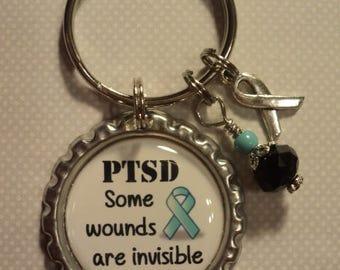 PTSD awareness chain with charms