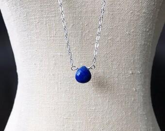 Lapis Lazuli Necklace, Infertility Jewelry, Pregnancy Symptom Relief, Doula Gift, Midwife Gift, Healing Stone Jewelry, Fertility Necklace