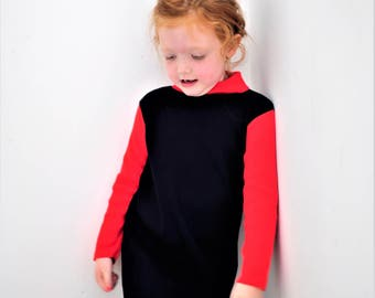 Girls Dress, Girls Vintage Dress, Girls Sweater Dress, Girls Knit Dress, Girls Winter Dress, Girls Retro Dress