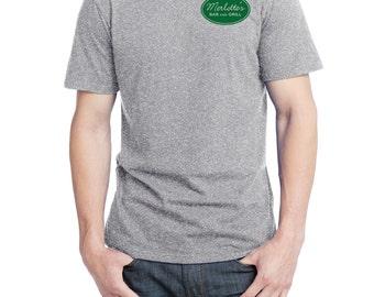 Merlotte's Bar and Grill Waitress Shirt, District Threads Shirt, Direct to Garment, Men's Heather Grey Shirt, True Blood Shirt