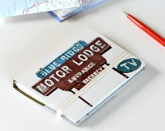 Upcycled Mini Roadtrip Journal, Pocket Travel Journal, Pocket Field Notebook