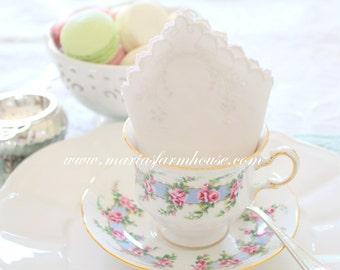 HEIRLOOM LINEN WHITE Napkin, Vintage, White Cotton Napkin, Tea Party, Table Linen, Tea Napkin