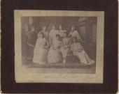 Mounted Image of Nine Ladies in Grecian Gowns