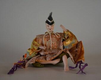 Hina doll, vintage Japanese ningyo, early Showa period #10