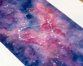 Gemini, Zodiac Sign, Watercolor Print, 5x7, 8x10, Wall Art, Galaxy, Constellation, Stars, Astrology, Astronomy, Gift, Giclee Print