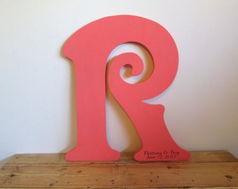 Large Wood Letters, Last Name Wall Decor, Sign our Guest Book Monogrammed Letter