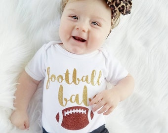 Football Baby Girl Ouftit Gold Glitter Football Babe Gold Bow Headband Gold Bow Football Leg Warmers Options Baby Girl Clothing