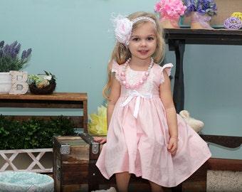 Easter Dresses, Little Girl Dresses, Heirloom Dresses, Little Girls Dress, Pink Dress, Vintage Style Dress, Pink Easter Dress