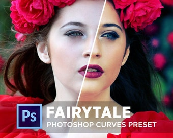 Photoshop Curves Preset FAIRYTALE |  Use as PS Resource, Color Pop for Photo Editing & More