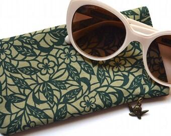 Eyeglasses Case - Cotton Fabric & Felt - Sunglasses Case - Handmade