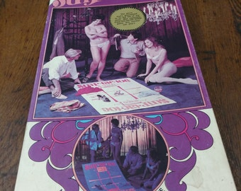 60s Adult Party Game, psychedelic blacklight stripping drinking game
