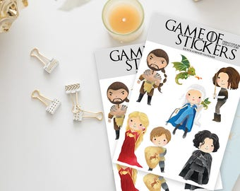 Stickers / Game of Thrones Stickers / GoT Stickers / A Song of Ice and Fire / Targaryen, Lannister, Stark, Jon Snow / Planner Stickers