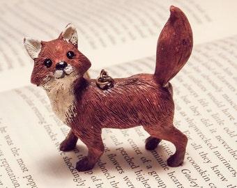 Resin Fox Pendant