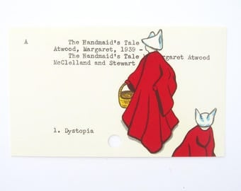 The Handmaid's Tale - Print of my painting on library card