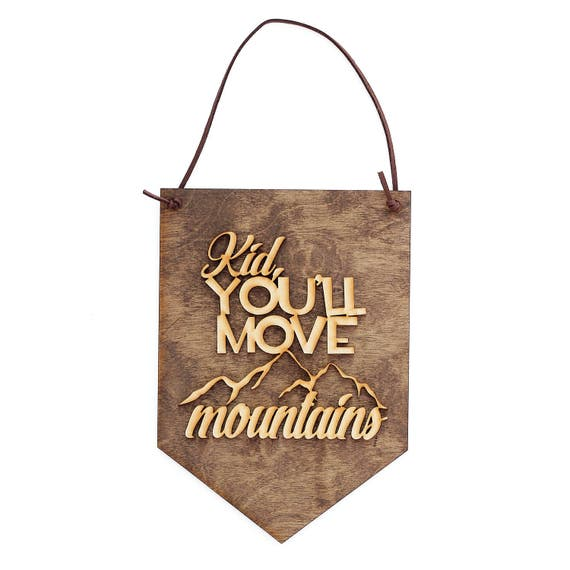 Kids Bedroom Gifts kid you'll move mountains gift for new baby wall