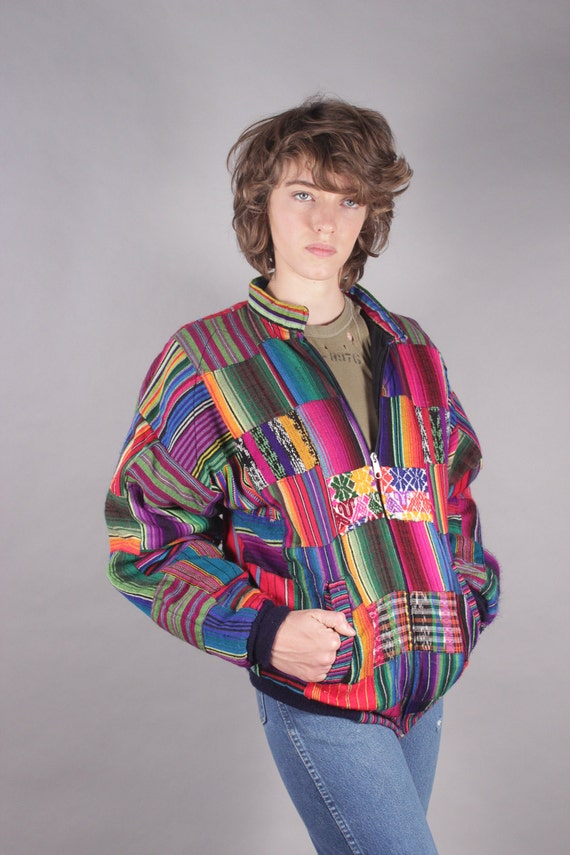 Mexican Patchwork Bomber Jacket