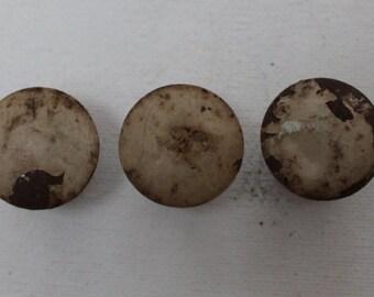 Antique Shabby Metal Knobs