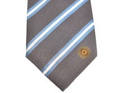 Argentina Tie - Inspired by the Argentinian Flag with Personalized Tag. Argentina Necktie.