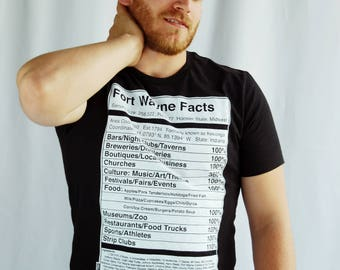 Fort Wayne Facts/Nutritional Facts T-Shirt - Valontine Exclusive