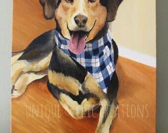Custom Labrador Hound Dog Pet Portrait