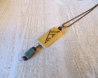 Phylogenetic jewelry, #sciart, systematics, science, bamboo pendant, graduate student gift, evolution, phylogenetics  (Style no. NBX4001)